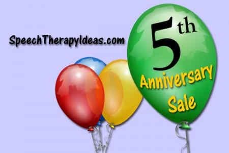 Speech Therapy Ideas 5th Anniversary Sale!