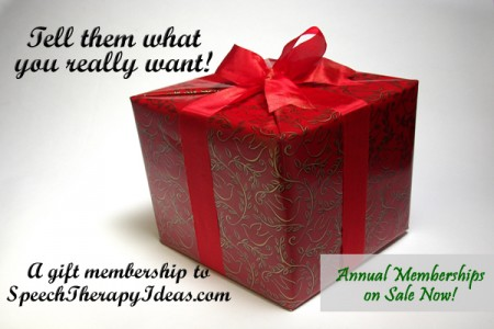 Gift Memeberships for SLPs - Annual Memberships on Sale Now!
