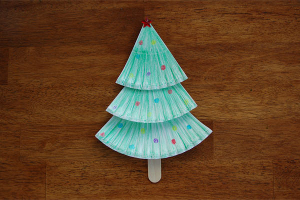 Christmas Tree Paper Plate Craft