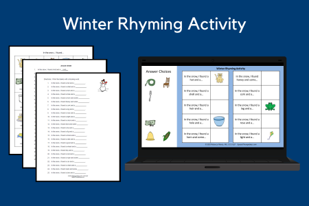Winter Rhyming Activity