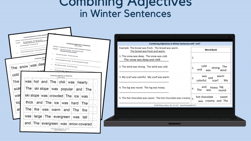 Combining Adjectives – Winter