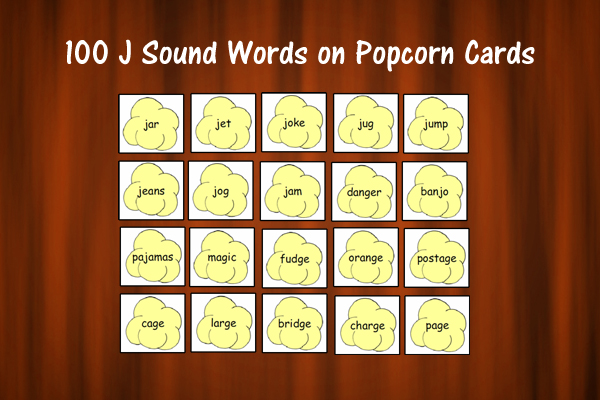 Popcorn Cards for J Sound