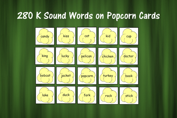 Popcorn Cards for K Sound