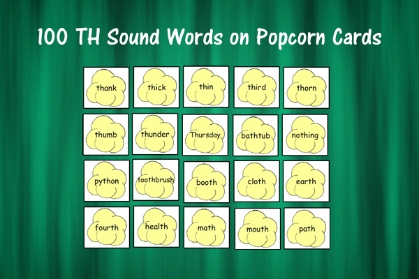 Popcorn Cards for TH Sound