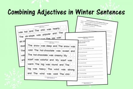 Combining Adjectives in Winter Sentences