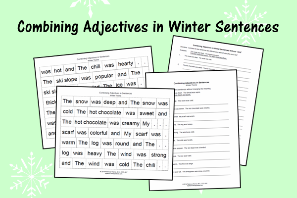 Combining Adjectives In Winter Sentences