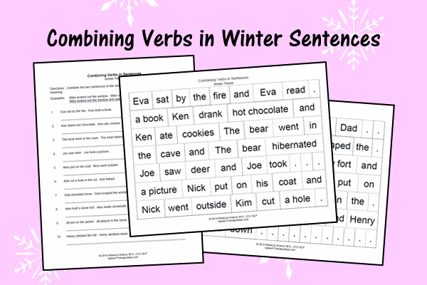 Combining Verbs In Winter Sentences