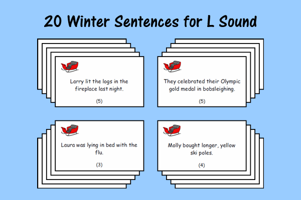 Winter Sentences for L Sound