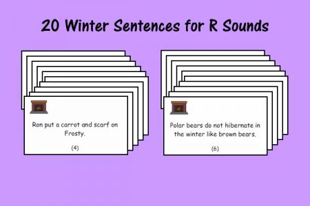 20 Winter Sentences for R Sounds