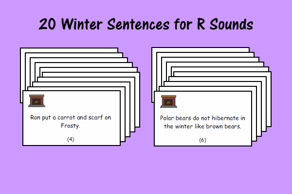 20 Winter Sentences For R Sounds