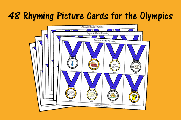 48 Rhyming Picture Cards For The Olympics