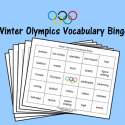 Winter Olympics Vocabulary Bingo