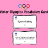 Winter Olympics Vocabulary Cards