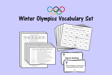 Winter Olympics Vocabulary Set