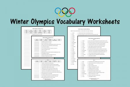 Winter Olympics Vocabulary Worksheets