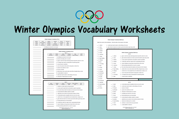 Winter Olympics Vocabulary Worksheets