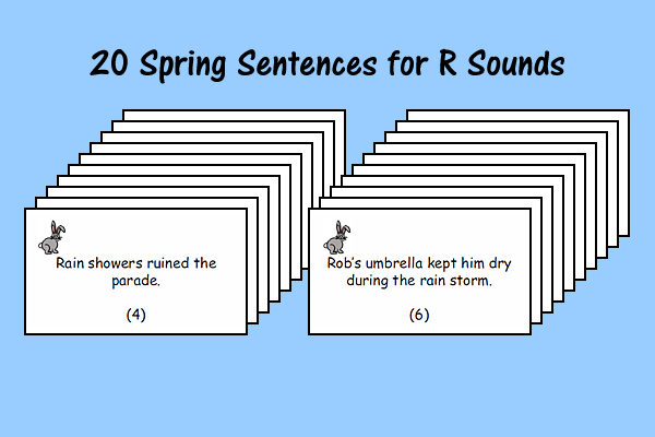 Spring Sentences for R Sounds