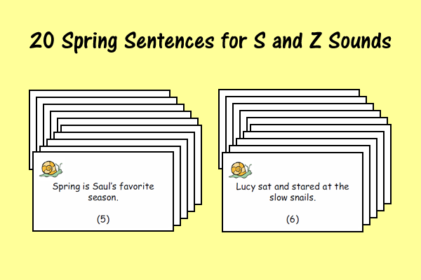 Spring Sentences for S and Z Sounds