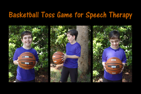 Basketball Toss Game for Speech Therapy