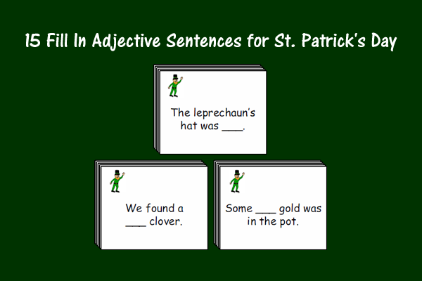 Fill In the Adjective Sentences for St. Patrick's Day