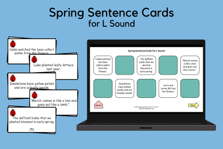 Spring Sentences for L Sound