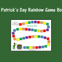 St. Patrick's Day Rainbow Game Board