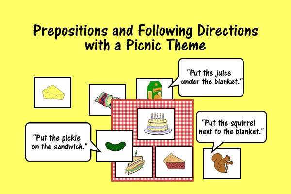 Prepositions And Following Directions – Picnic Theme