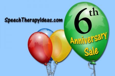 Speech Therapy Ideas 6th Anniversary Sale!