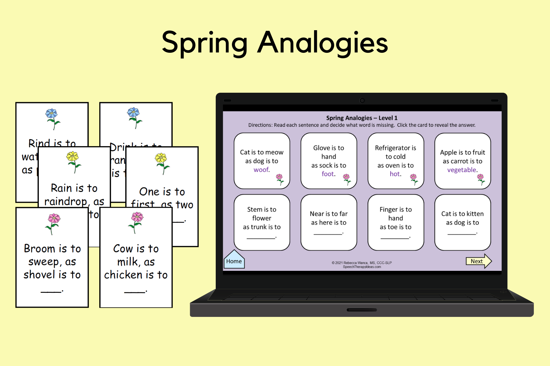 Spring Analogy Cards