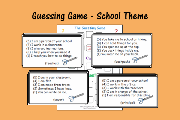 Guessing Game – School Theme