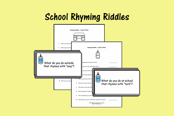 School Rhyming Riddles