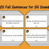20 Fall Sentences for SH Sound