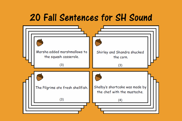 Fall Sentences for SH Sound