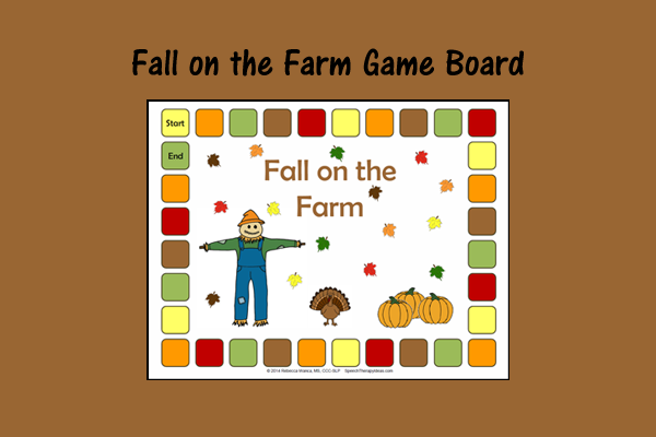 Fall On The Farm Game Board