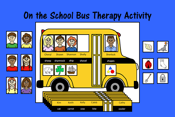 On the School Bus – Speech and Language Therapy Activity
