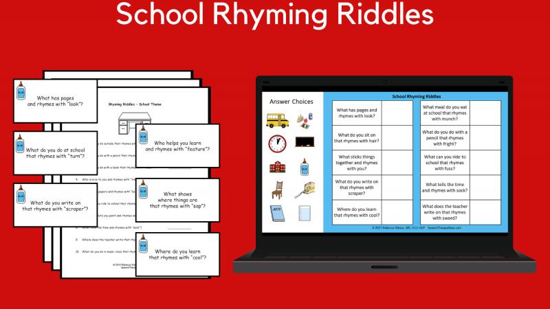 School Rhyming Riddles