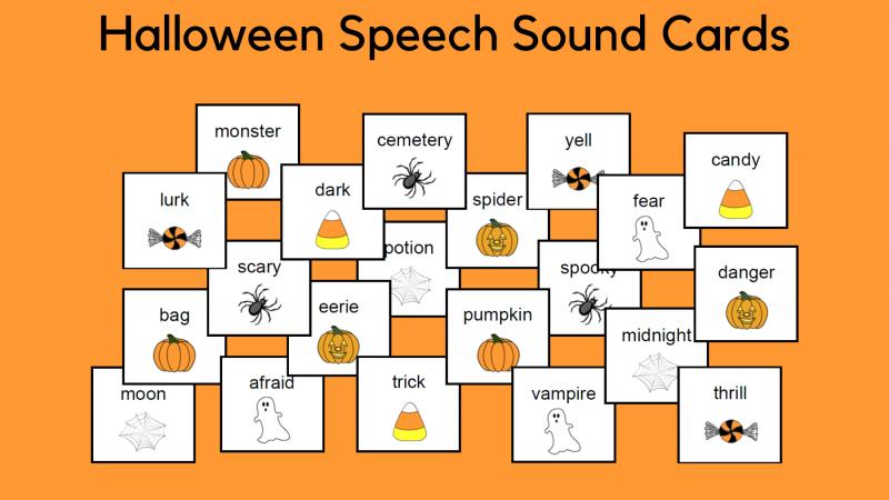 Halloween Speech Sound Cards