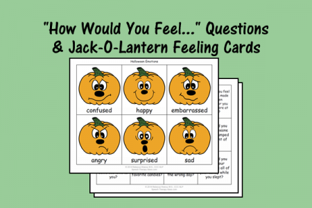 """How Would You Feel..."" Questions & Jack-O-Lantern Feeling Cards"