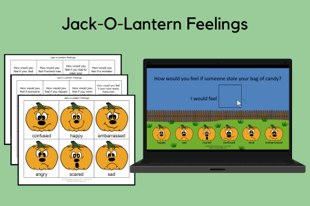 Jack-O-Lantern Feelings Print and Interactive