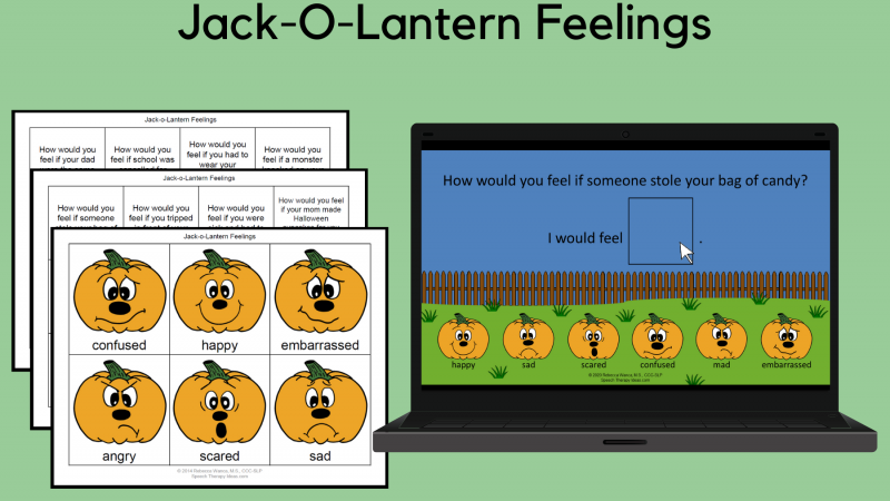 Jack O Lantern Feelings Print And Interactive