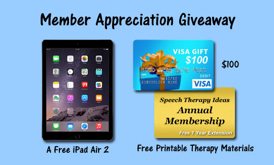 Member Appreciation Giveaway – IPad Air 2, Visa Gift Card, Annual Membership