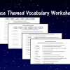 Space Themed Vocabulary Worksheets