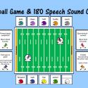 Football Game With Speech Sound Cards