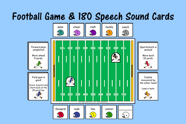 Football Game & 180 Speech Sound Cards