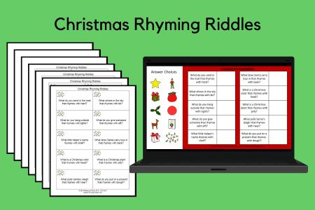 Christmas Rhyming Riddles