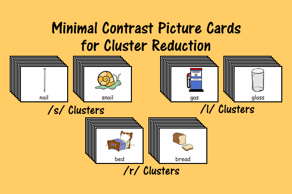 Minimal Contrast Picture Cards for Cluster Reduction