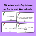 Valentine's Day Figurative Language Cards And Worksheets
