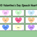 Valentine's Day Speech Hearts