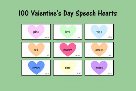 100 Valentine's Day Speech Hearts