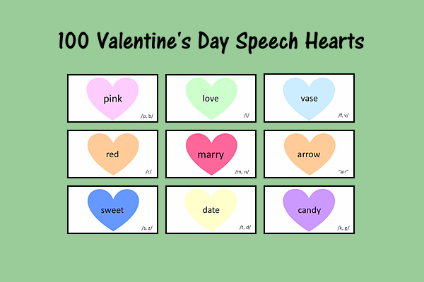 100 Valentine's Day Speech Hearts